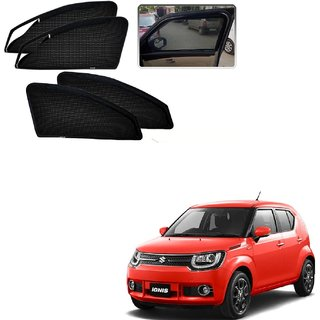 Auto Addict Zipper Magnetic Sun Shades Car Curtain For Maruti Suzuki ignis
