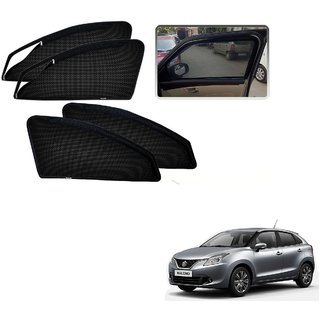 Auto Addict Zipper Magnetic Sun Shades Car Curtain For Maruti Suzuki New Baleno Nexa