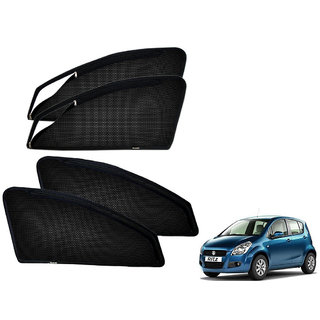 Auto Addict Zipper Magnetic Sun Shades Car Curtain For Maruti Suzuki Ritz