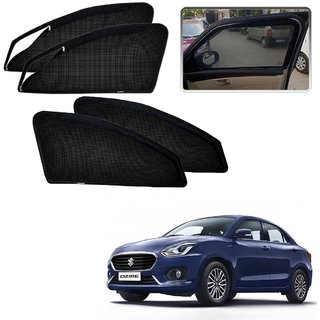 Auto Addict Zipper Magnetic Sun Shades Car Curtain For Maruti Suzuki New Dzire (2017)
