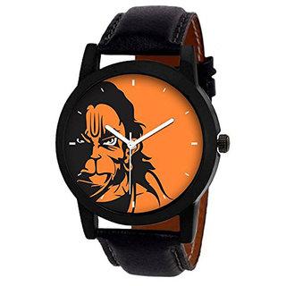 Orange Dial Hanuman Watch by Wake Wood