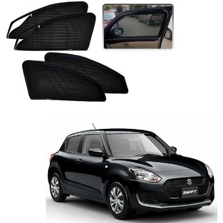 Auto Addict Zipper Magnetic Sun Shades Car Curtain For Maruti Suzuki New Swift (2018-Present)