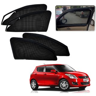 Auto Addict Zipper Magnetic Sun Shades Car Curtain For Maruti Suzuki New Swift Type-2 (2011-2017)