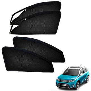 Auto Addict Zipper Magnetic Sun Shades Car Curtain For Maruti Suzuki Vitara Brezza