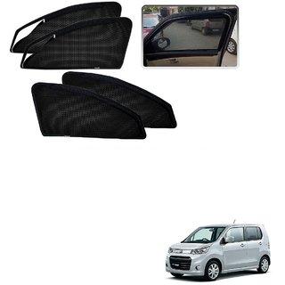 Auto Addict Zipper Magnetic Sun Shades Car Curtain For Maruti Suzuki WagnoR Stingray