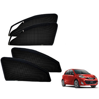 Auto Addict Zipper Magnetic Sun Shades Car Curtain For Nissan Micra New