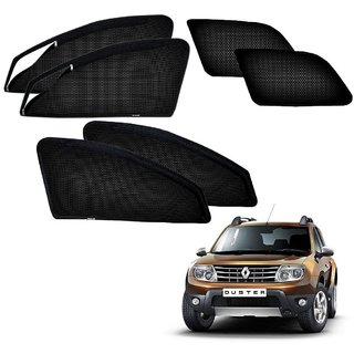 Auto Addict Zipper Magnetic Sun Shades Car Curtain For Renault Duster