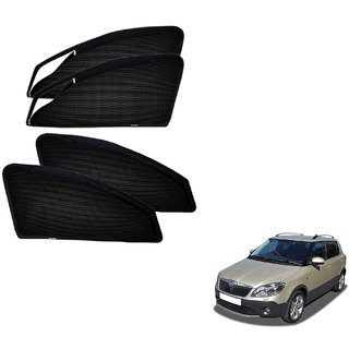Auto Addict Zipper Magnetic Sun Shades Car Curtain For Skoda Fabia