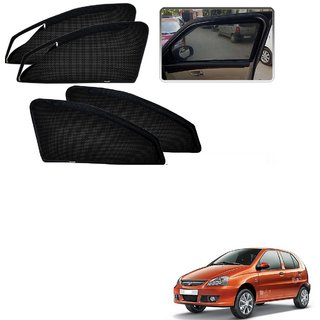 Auto Addict Zipper Magnetic Sun Shades Car Curtain For Tata Indica