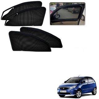 Auto Addict Zipper Magnetic Sun Shades Car Curtain For Tata Indica Vista