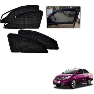 Auto Addict Zipper Magnetic Sun Shades Car Curtain For Tata Manza