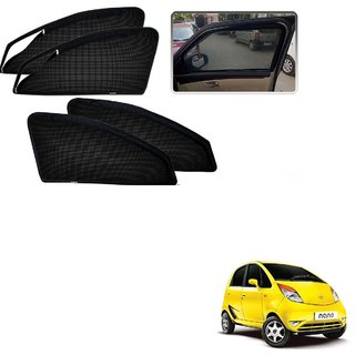 Auto Addict Zipper Magnetic Sun Shades Car Curtain For Tata Nano