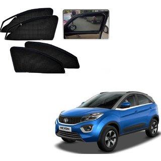 Auto Addict Zipper Magnetic Sun Shades Car Curtain For Tata Nexon