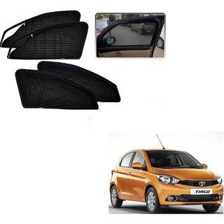 Auto Addict Zipper Magnetic Sun Shades Car Curtain For Tata Tiago