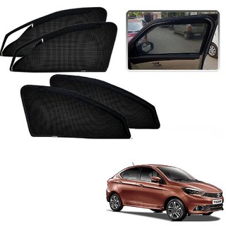 Auto Addict Zipper Magnetic Sun Shades Car Curtain For Tata Tigor