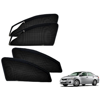 Auto Addict Zipper Magnetic Sun Shades Car Curtain For Toyota Corolla