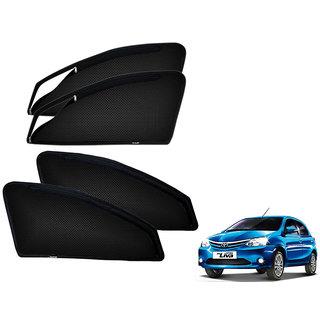 Auto Addict Zipper Magnetic Sun Shades Car Curtain For Toyota Etios Liva
