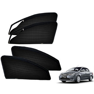 Auto Addict Zipper Magnetic Sun Shades Car Curtain For Toyota Etios