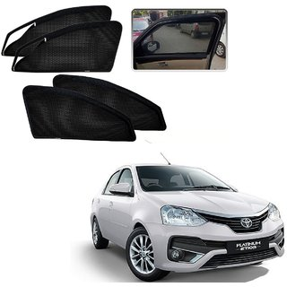 Auto Addict Zipper Magnetic Sun Shades Car Curtain For Toyota Etios Platinum