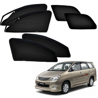 Auto Addict Zipper Magnetic Sun Shades Car Curtain For Toyota Innova