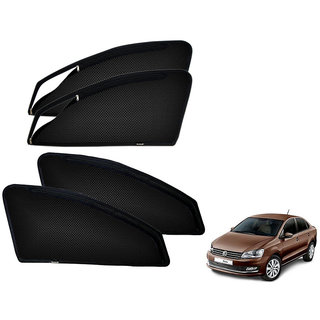 Auto Addict Zipper Magnetic Sun Shades Car Curtain For Volkswagen Vento