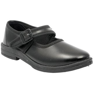 Lakhani Black School Shoes For Girls