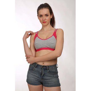 Fashion Comfortz Womens Pink Cotton Lycra Yoga Wear