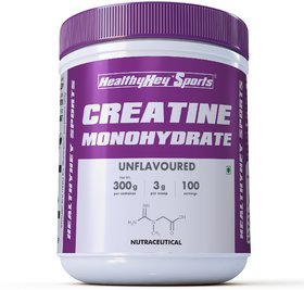 HealthyHey Sports Creatine Monohydrate 300gm - 100 Servings