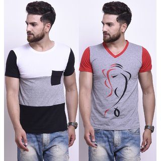 Stylesmyth Cotton Half Sleeves T-shirt (Pack of 2)