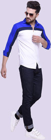 29K Men's Slim Fit Block Print Cotton Casual Shirts