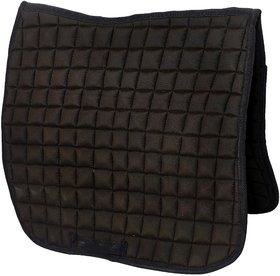 Bulaqi Dass Saddle Pad In Black For Horse - Cloth, Length- 29.5 Inch, Width- 44 Inch
