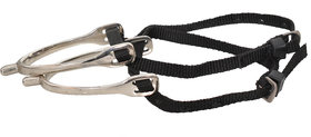 Bulaqi Dass Horse Spur With Nylon Stirrup In Black For All Horse Riders - Men And Women - Brass, 5 Inch