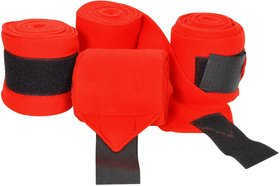 Bulaqi Dass Horse Bandage Gripper In Red For Horse - Cloth, 2.75 Meter X 0.1 Meter