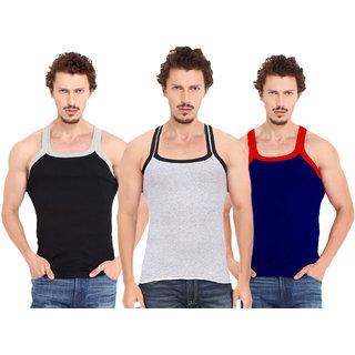 Fashion Trend Mens Gym Vest pack of 3(Black,Grey,Navy)
