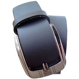 Fashion Trend Black Pure Leather Belt For Men (Synthetic leather/Rexine)