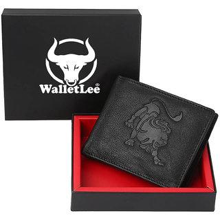 Tamanna Men Black Genuine Leather Wallet  (1 Card Slot)