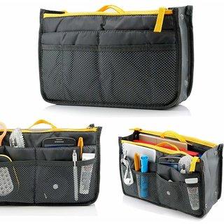 House of Quirk Multipocket Handbag Organizer 13 Compartment - GREY