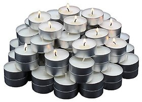 k kudos 150 Pcs White Tea Light Candles for Wedding Party
