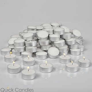 k kudos 200 Pcs White Tea Light Candles for Wedding Party