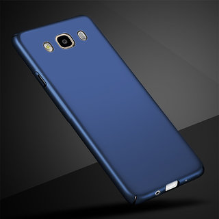 4Cut Matte Finish Rubberised  Hard Case Cover For Samsung Galaxy J7 2016 - Blue