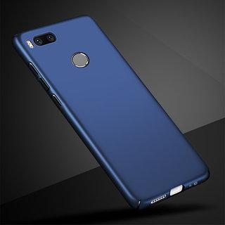 4Cut Matte Finish Rubberised  Hard Case Cover For Xiaomi Mi A1 - Blue