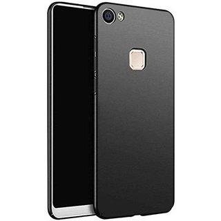 timeless design 2de23 86237 4Cut Matte Finish Rubberised Hard Case Cover For Vivo V7 Plus - Black