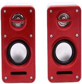 Deals e Unique 2.0 Multimedia Speakers Excellent Dolly Sound Effect System (Multi-Color)