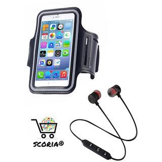 SCORIA COMBO M9 Magnet Wireless Bluetooth Headset Stereo Music Headphones WITH Waterproof Sport Gym Running Arm Band