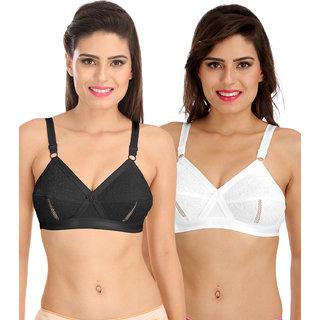 df529c103 Sona Women S Delicate Super Everyday Plus Size Cotton Bra- Full Coverage  Non Wired