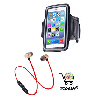 SCORIA COMBO M9 Magnet Wireless Bluetooth Headset Stereo Music Headphones WITH Waterproof Sport Gym Running Arm Band