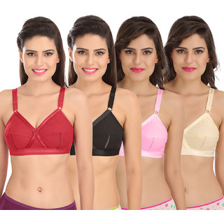 5a8181f4611 Buy Sona Perfecto Women White Full Cup Everyday Dream Fit for Ample Bust  Lines Plus Size Cotton Bra- Full Coverage Non Wired