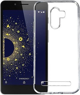 Silicon Soft Transparent  Back Cover For Tenor 10.or D