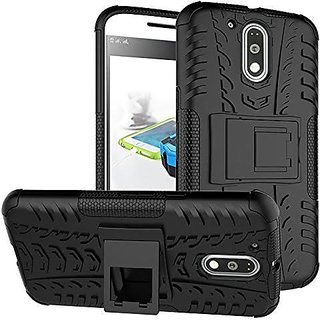 Defender for Moto G4 Plus Defender Stand Case Black