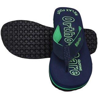 Glory Women Orthocare Soft Rubber Flip Flops Blue MB-031